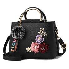 Top Brand Luxury Handbag PU Leather Tote Fashion Handbag for Women Flower Designer Shoulder Bag Simple Women Bag Torebki Damskie 2018 luxury brand women leather handbag 100