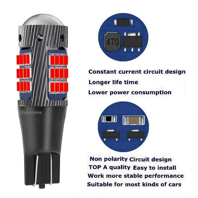 2PCS New T15 W16W WY16W Super Bright LED Car Tail Brake Bulb Turn Signals Auto Rear Fog Lamp DRL Light Red White Yellow|Signal Lamp|   -