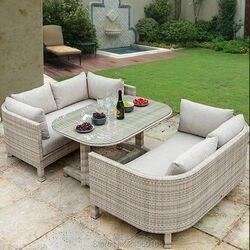 3 szt. Meble ogrodowe zestaw do jadalni  zestaw metalowych ramek do balkonu na każdą pogodę  zestaw wiklinowy z wikliny rattanowej|Zestawy ogrodowe|Meble -