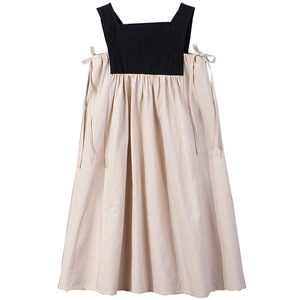 Image 3 - 2020 Summer New Girls Dresses Bow Baby Princess Dress  Two Colors Patchwork Sleeveless Kids Cotton Dresses for Children, #8291