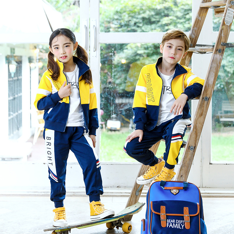 Kindergarten Suit Spring And Autumn 2019 New Style Children Sports Clothing Teacher Young STUDENT'S School Uniform Business Atti