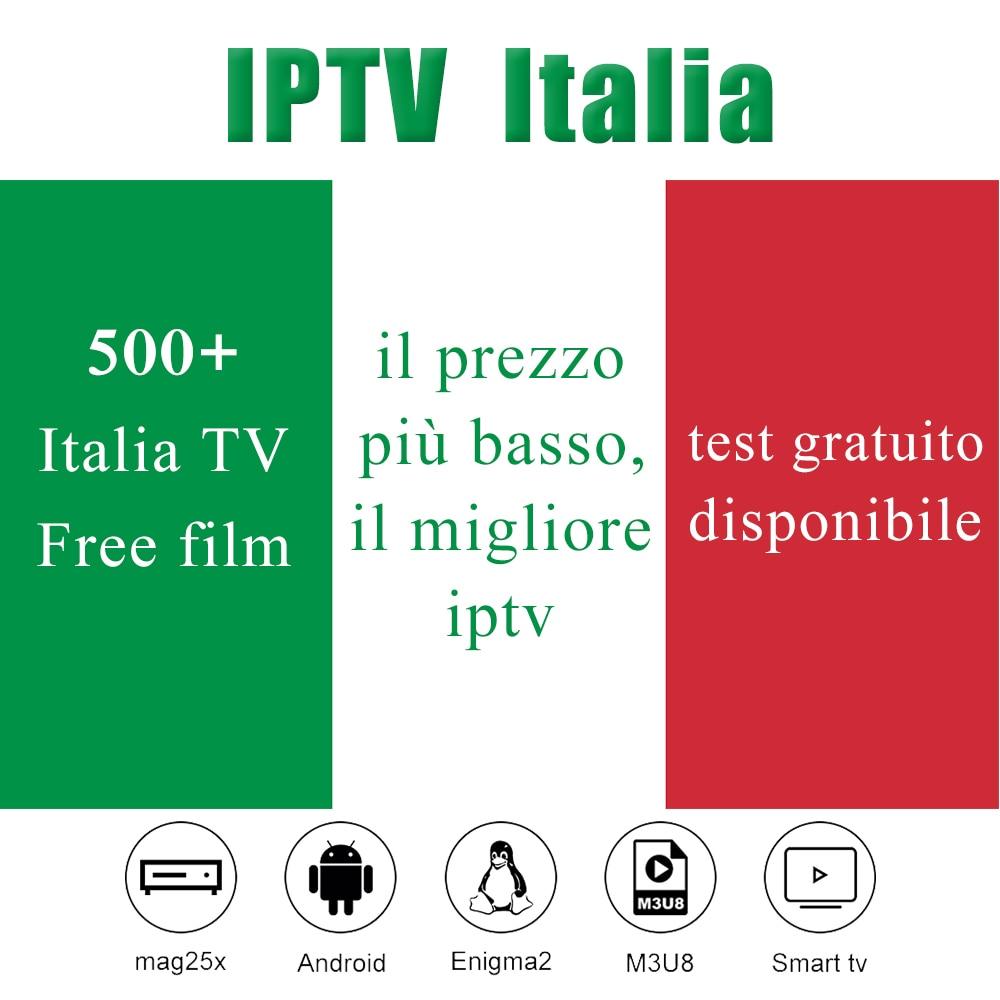 IPTV Italia M3u8 Subscription 500+ Live TV Mediaset Premium For IPTV Smarter M3U8 Android Enigma2 Smart TV Box Iptv Lista Italy