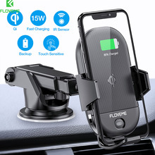 FLOVEME Car Qi Wireless Charger For iPhone 11 Pro Max Smart Sensor 10W Fast Charging Samsung S10 Mount Holder