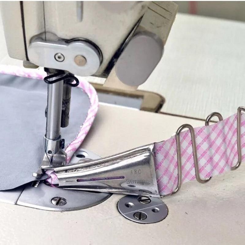 Doppelfalte Winkelbinder N/ähmaschine Overlock-Bindung Edge-Ordner-Band Lockstitch Angle Tape Bias Binder f/ür Steppstich-Maschine N/ähnmaschine