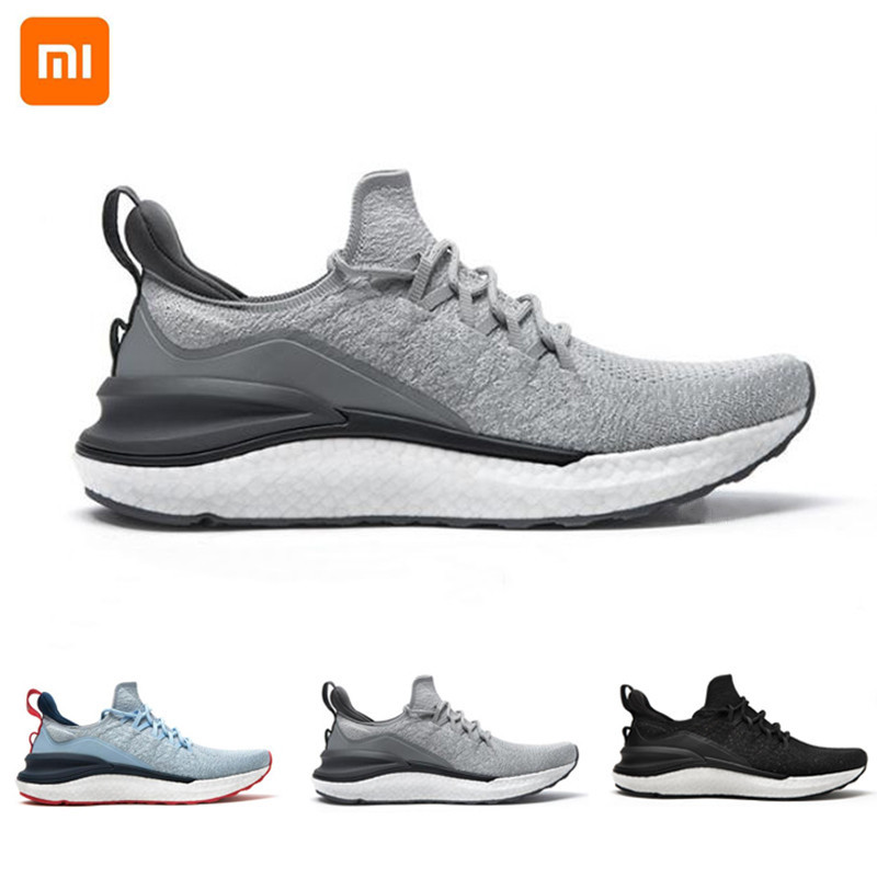 Xiaomi Mijia Sport Shoes 4 Men Sneaker Running Sports Non Slip Lightweight Breathable Comfortable 4D Fly Woven Upper Highelastic