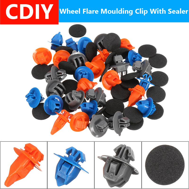 50 Door Trim Panel Retainer With Sealer Nylon Clip For Toyota Camry 90467-A0005