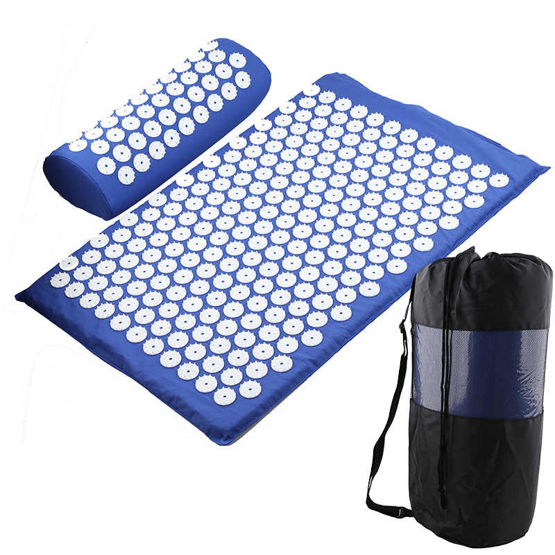 Yoga Tapis D'acupression Dos Corps Soulager Le Stress Tension pointe ABS D'acupression Massage Relaxation Douleur Tapis