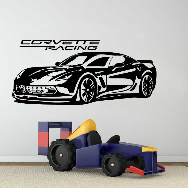Sports Car Decals Murals Corvette ZR1 Personalised wall Stickers Corvette ZR1 Wall Art