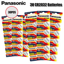 PANASONIC — Lot de piles boutons CR 2032 authentiques, 30 pièces par lot, batterie au lithium, pour montre, télécommande ou calculatrice, batteries 3V