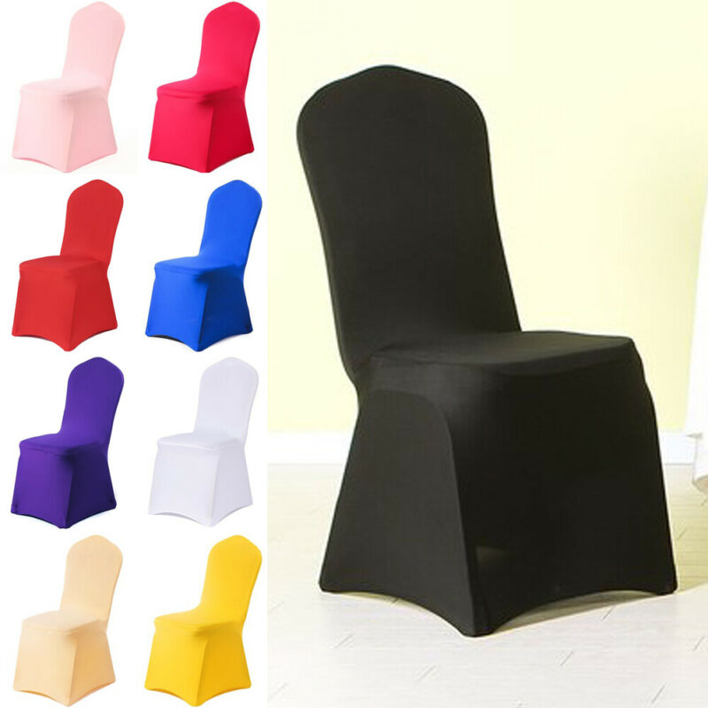 Chair Covers Spandex Wedding Banquet Anniversary Party Event Decor 12 Colours Chair Cover Clothes