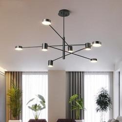 Nowoczesny żyrandol Led oprawa sufitowa Led oświetlenie żyrandol do salonu jadalnia sypialnia oświetlenie dekoracyjne oprawa w Wiszące lampki od Lampy i oświetlenie na