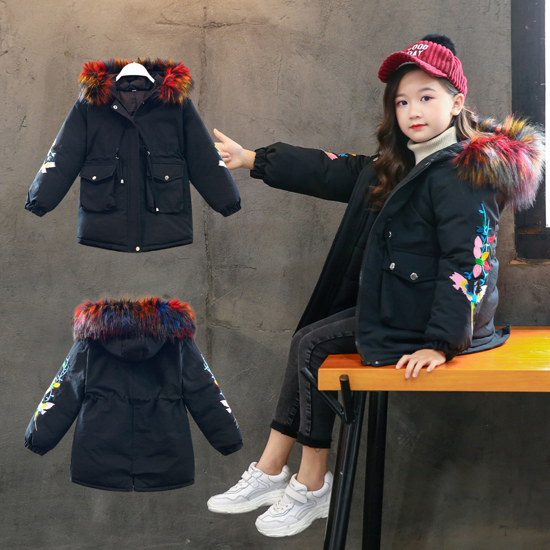 2019 New Children's Clothing Winter Jacket For Girls Thicken Girls Winter Coat Hooded Velour Winter Girls Jackets Outwear 3-12T