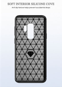 Image 3 - سيليكون قضية الهاتف لسامسونج غالاكسي S9 زائد لينة غطاء من ألياف الكربون الوفير GalaxyS9 SM G965F G960F S9plus S 9 9 Plus SM G960F