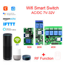 Tuya Smart Wifi Module Support 433mhz remote control USB 5V AC/DC 7-32V WIFI Wireless Smart Home Switch with Alexa