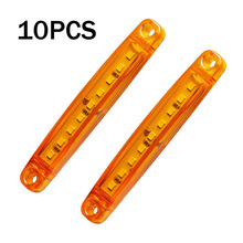 10pcs 12-30V 9-LEDs Auto Car Truck Bus Side Lights Marker Tail Amber Turn Signal Light Super Brightness trailer LED