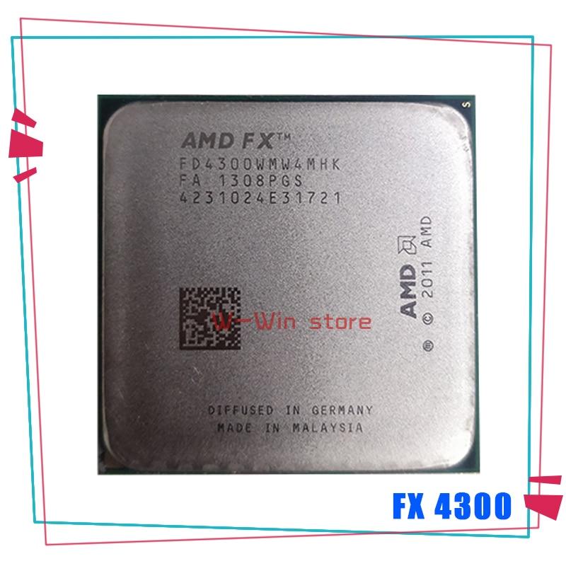 AMD FX Series FX 4300 FX 4300 3,8 ГГц четырехъядерный процессор FD4300WMW4MHK Socket AM3 +|Процессоры|   | АлиЭкспресс