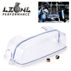 LZONE - Turbo Cam Pulley Timing Belt Cover Clear For 2JZ Toyota Supra Aristo JZZ31 JZA80 JZS147 JZX91 Lexus SC300 IS300 JR6332