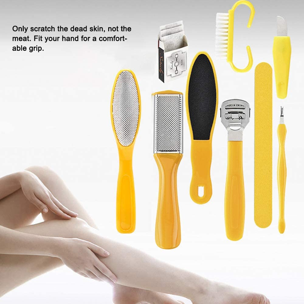 10PC Foot file Care Tool  Pedicure Tools Foot File Callus Remover Set Foot Scrubber Kit Rasp Foot Exfoliating Scrubber Cleaner