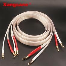 Xangsane fever grade OCC posrebrzany kabel głośnikowy hifi micro space audio kabel wtyczka bananowa Y wtyczka wtyczka bananowa bananowa Y Y