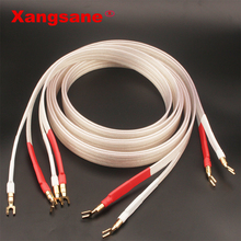 Xangsane fever grade OCC silver plated speaker cable hifi micro space audio cable Banana plug Y plug Banana plug Banana  Y Y