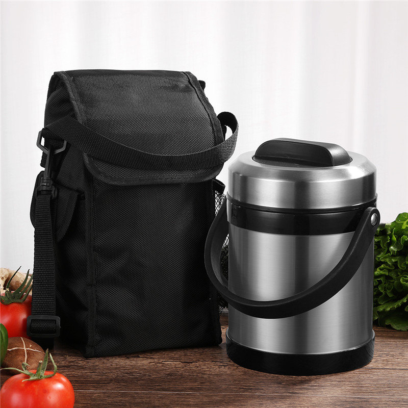 2000ml Large Capacity Lunch Box Food Container 3 Food Box Storage Portable School Picnic Set Lunchbox Insulation Bags