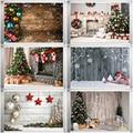 Фон для фотосъемки в рождественском стиле Рождественское украшение елка Ретро Винтажные деревянные стены камин Рождественские фоны рекви...