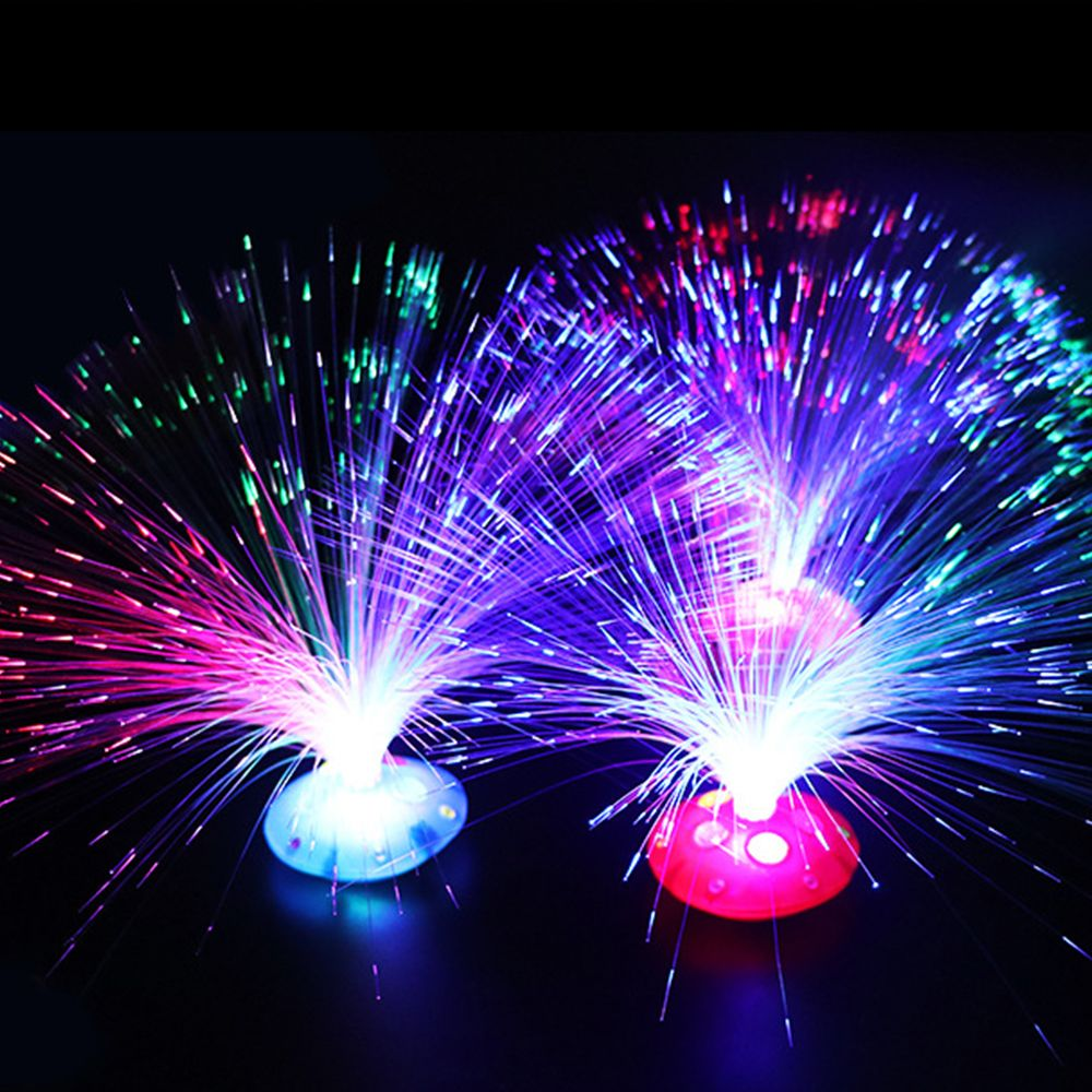 1 Pc Multi-color LED Fiber Optic Light Lamp Holiday Wedding Home Decoration Kids Intelligent Toy For Brain Development Kid Gift