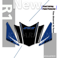 Motorcycle Front Fairing 3D Gel Sticker Protector Number Board Moto Accessories decoration decal for Yamaha R1 2018 2019