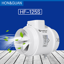 """Hon& Guan """" вытяжной вентилятор Смешанный Поток вентиляционная система вытяжной воздух для ванной кухни встроенный канальный вентилятор; HF-125S"""