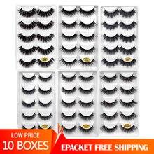 YSDO extensiones de pestañas 3d de visón, 10 lotes, 50 pares, maquillaje sin crueldad, venta al por mayor, cilios G8