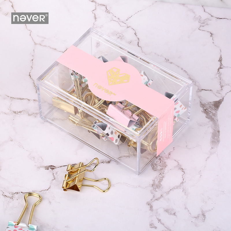 2020 New Arrival Never Metal Paper Clips Office Accessories Light Pink Binder Clips Office Supplies Clipes Photo Clip Metal Clip