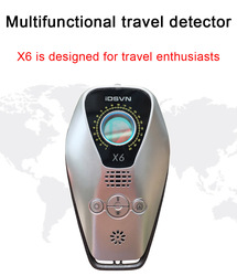 Mini Anti Spy Mini Camera Infrared Detector Anti Thief Wireless GPS Locator Signal Bug Scanner Alarm Device Espia Cam Detector