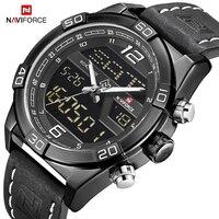 Naviforce luxo marca de negócios cronógrafo relógio masculino do exército à prova dwaterproof água relógio de pulso masculino relógios relogio masculino