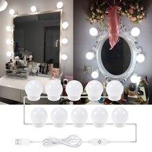 Зеркало для макияжа Светильник лампы бесступенчатая затемнения Голливуд косметическое зеркало светильник 12В Светодиодная лампа 2 шт./Букет невесты 6 штук в партии 10 шт/14 шт. Светильник лампы