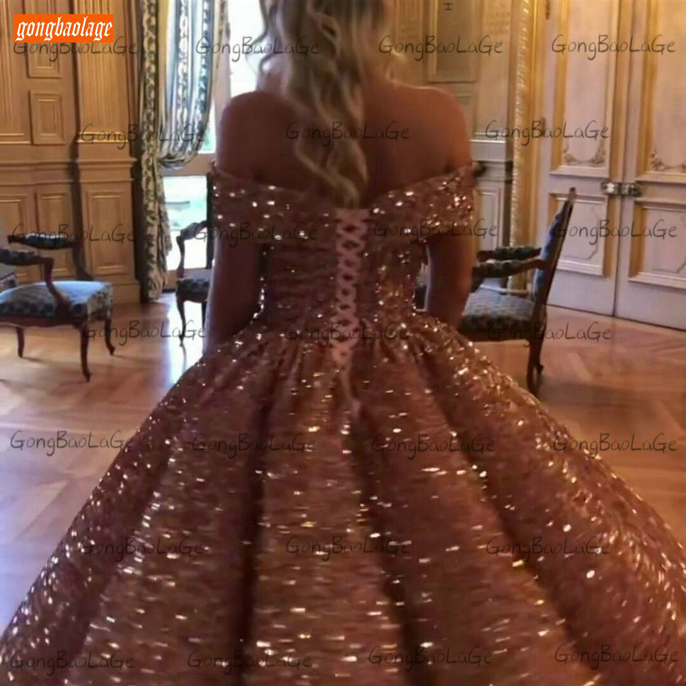 Sparkly Burgundy Evening Dress Long 2020 Off Shoulder Sequin Lace Up Ball Gown Formal Dresses Reflective Pageant Evening Gowns 6