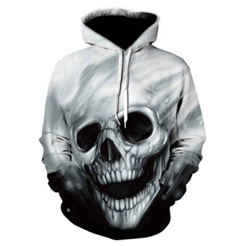 1055 Skull Hoodie Hoodies Men Women Long Sleeve Autumn Winter Brand Hooded Sweatshirt Casual Pullover 3D Hoody Tops Dropship
