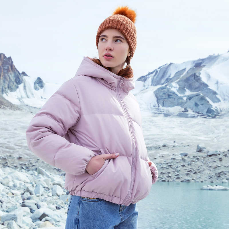 Metersbonwe Neue Unten Jacke Frauen Winter Warme 80% Weiße Ente Unten Lose Weiblichen Kurzen Mantel Komfortable outdoor Unten mantel