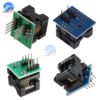 MSOP8 To DIP8 Wide-body Narrow-body Seat Wide 150mil 200mil Programmer Adapter SOIC8 To DIP8 IC Socket Blue Green