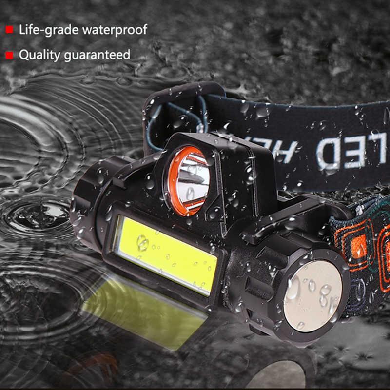 2 Led COB kopf lampe auto überprüfen licht Led kopf lampe kopf taschenlampe USB aufladbare scheinwerfer USB magnet arbeit licht kopf taschenlampe