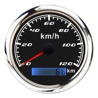 Marine Car Digital GPS Speedometer Gauge 0 120 km/h 85mm Waterproof