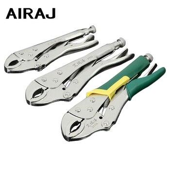 Airaj novo industrial round-nose alicates alto torque travamento torno de aço carbono rosca chave forte braçadeira de tubulação ferramenta de fixação mão