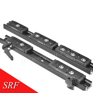 Image 2 - 28mm width Rectangle wheel  Linear Guide Rail 1pcs SGR10N Length=200mm with SGB10N 4UU four wheel slide block for CNC parts