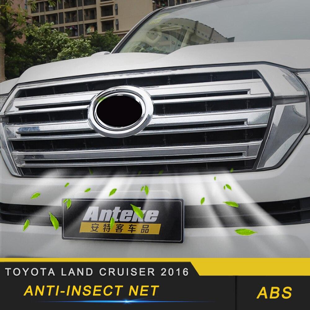 Voiture Anti insecte protection solaire capot avant grilles Grille filet maille cadre Auto pièces pour Toyota Land Cruiser 200 2016-2018