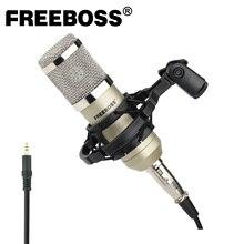Freeboss BM 800 3.5mm wtyczka z tworzywa sztucznego Shock Mount profesjonalna gra nagrywanie transmisja czat śpiew mikrofon kondensujący