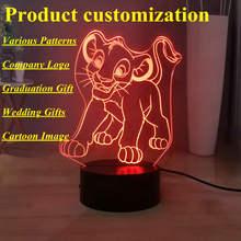 Pattern Custom LED Night Light Company Logo Cartoon Image Movie Figure 3D Table Lamp Bedside Lamp