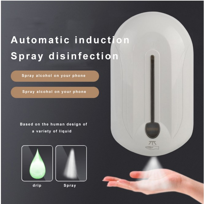 1000ML Automatic 75% Alcohol Disinfection Fluid Soap Dispenser Sensor Hand Free Bathroom Automatic Spray Dispenser Touchless