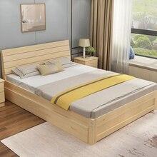 Экологически чистая кровать из цельного дерева, мебель для спальни, кровать для детей и взрослых, легкая сборка