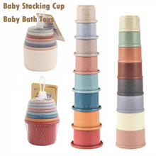 Toys Rainbow-Stacking-Tower-Toys Stacking-Cup Baby Children Early-Educational-Toys Hot