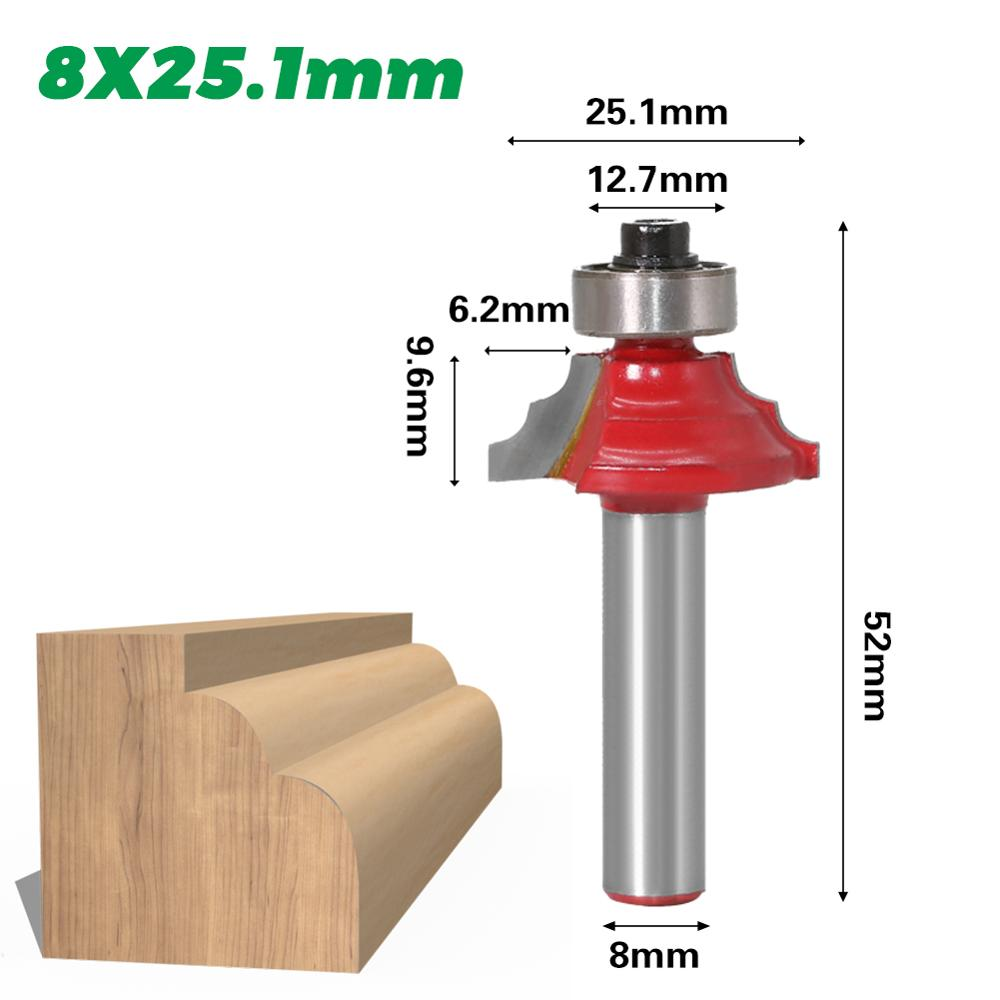 1pcs classical moulding bits end mill trimmer cleaning flush trim corner round cove box bits tools Milling Cutter