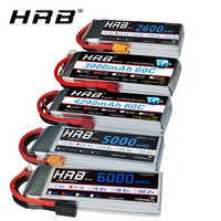 Batterie HRB RC 3S lipo 11.1V 5000mah 6000mah 2600mah 3000mah 3300mah 1800mah 12000mah 22000mah lipo avec prise Deans pour voitures RC